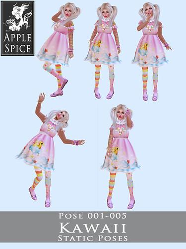 Apple Spice - Kawaii Static Poses 001-005