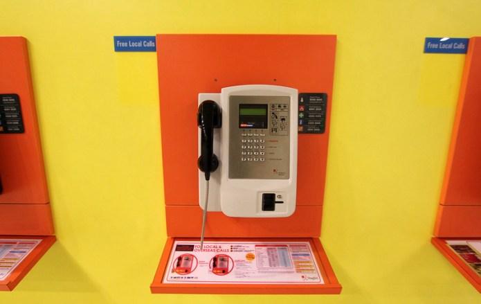 airport payphone