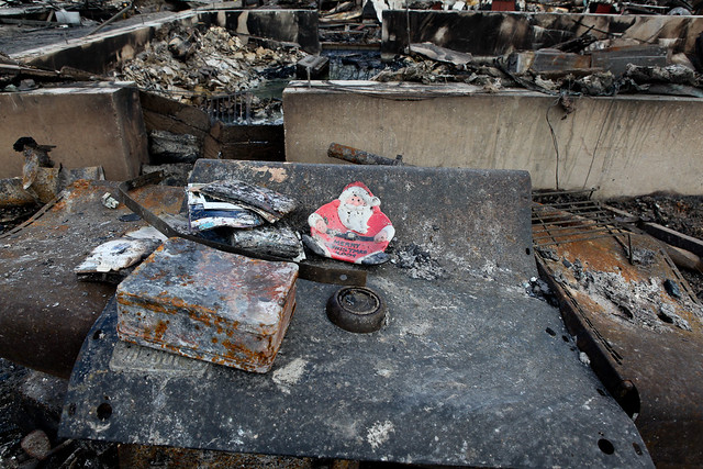 Recovered items from firefighters home