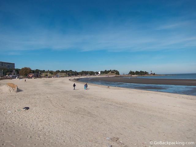 Beach in Montevideo