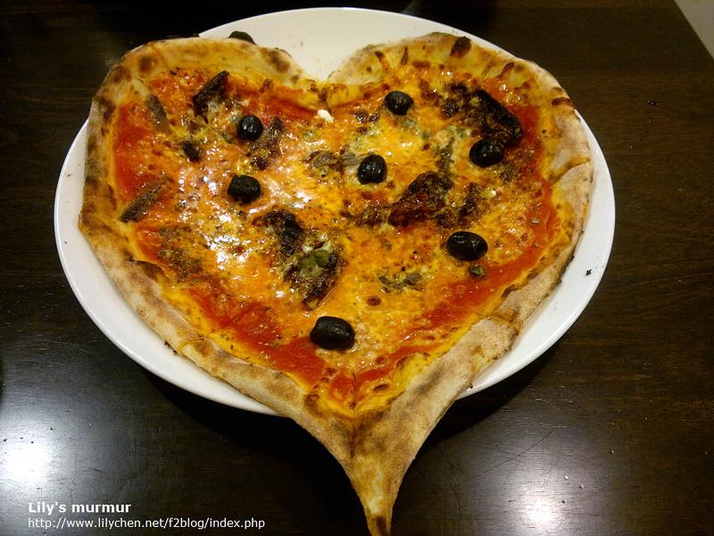 特別的愛心Pizza,是地中海Pizza口味!