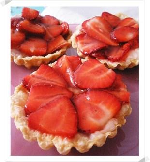 Tartaletas Ligeras de Hojaldre con Fresas