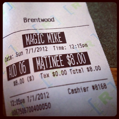 I saw Magic Mike today and it was good...