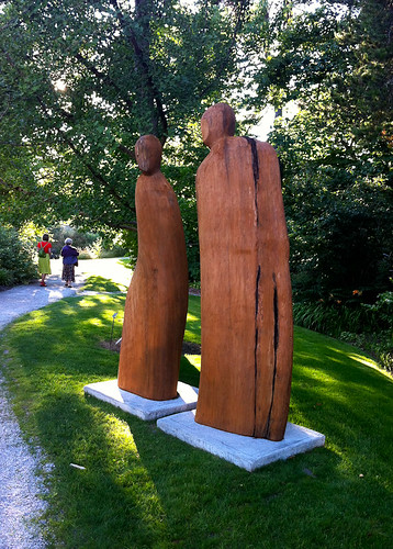Earth art exhibition at VanDusen Gardens - Michael Dennis