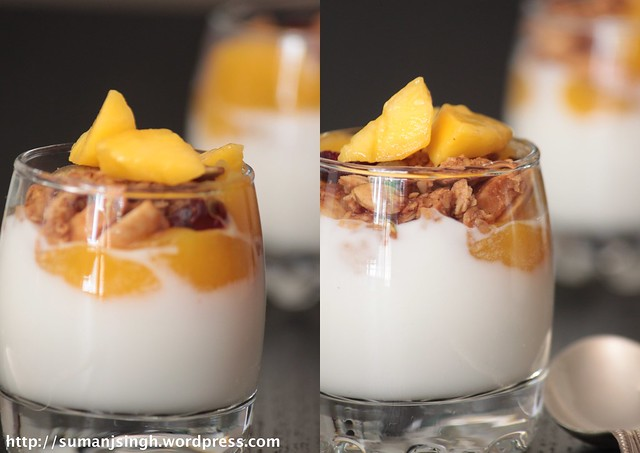 Granola-Yogurt-Mango Parfaits