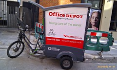Office Depot's rickshaw in Farringdon!