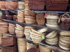 Rattan baskets, Daiso