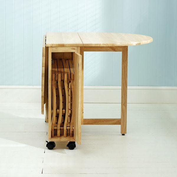 a8327e9876a86 Danish Modern Drop Table W Folding Chairs By Caughtmyeyecandy