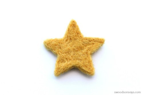 Needle felted star