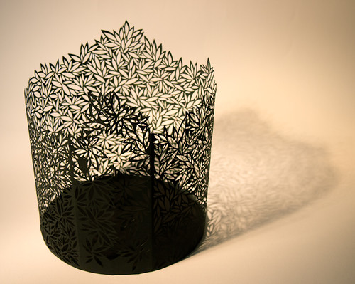 Paper Cut Vessel - Cylinder