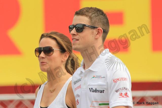 Paul Di Resta and Natalie Pinkham at the 2013 Spanish Grand Prix