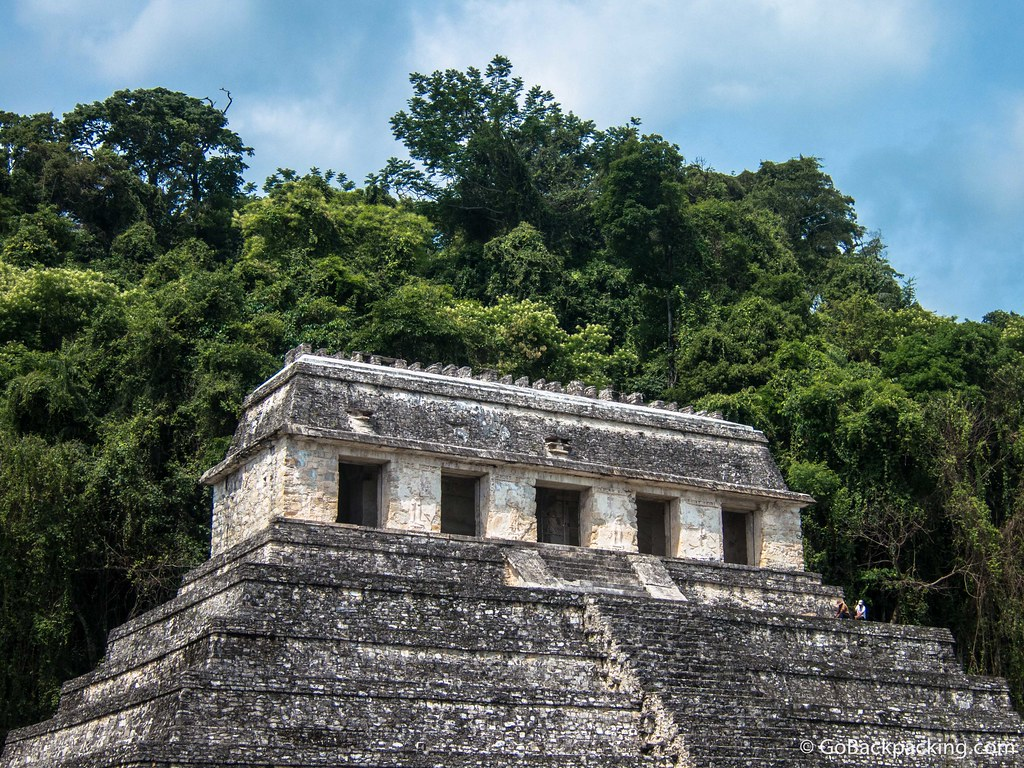 The top of the Temple of the Inscriptions, which is not open to tourists to climb