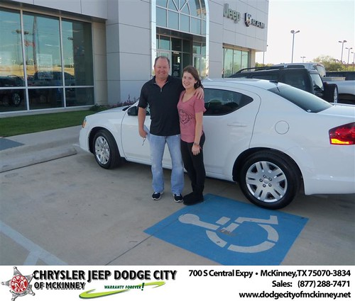 Dodge City of McKinney would like to say Congratulations to David Carter on the 2013 Dodge Avenger by Dodge City McKinney Texas