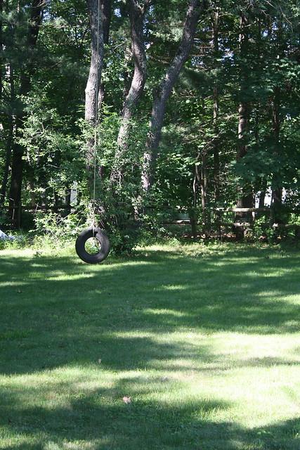The still-loved tire swing