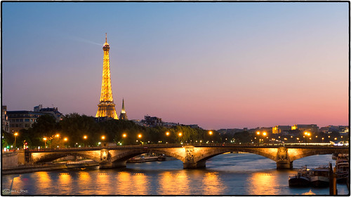 Eiffel Tower sunset, Paris