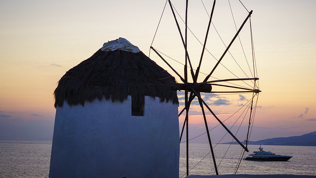 Windmill in Mykonos Town