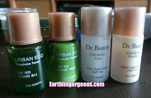 the Saem Urban Eco and Dr. Beauty skin care review by Earthlingorgeous