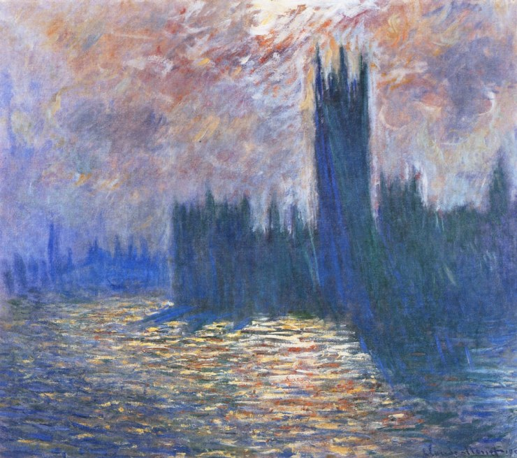 Monet - Parliament, Reflections on the Thames