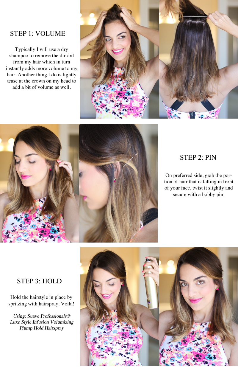 easy three step hairstyle