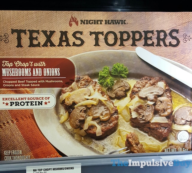 Night Hawk Top Chop't with Mushrooms and Onions Texas Topper