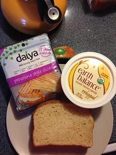 Mmmm. Vegan Grilled Cheese.