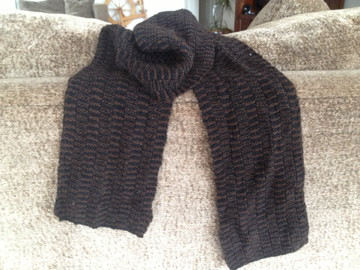 Two toned Alpca Scarf