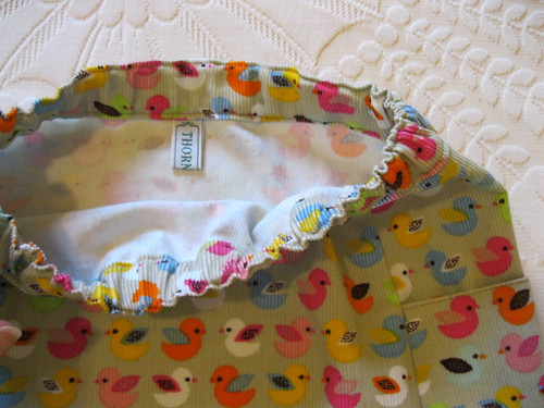 Oliver + s music class skirt for Stella - size 6, waistband and pocket detail