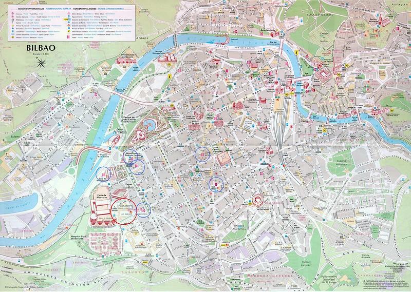 Mapa Turistico de Bilbau