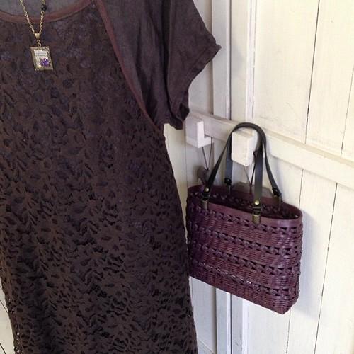 私好みに作ってもらいました!エコクラフトのバッグ石畳み編み。