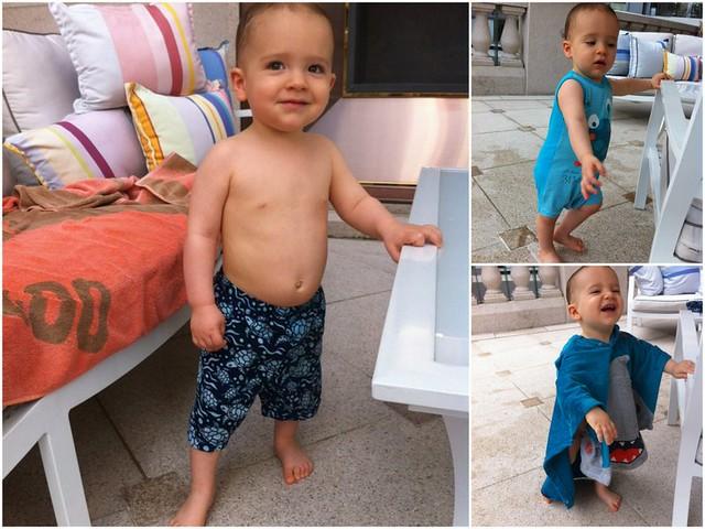 Gaspard a la piscine
