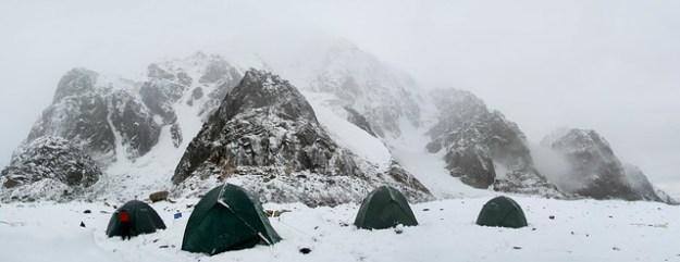 Snow at Komsomolets. South Inylchek Glacier Trek