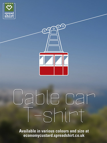 Cable car T-shirt by Simon Sharville