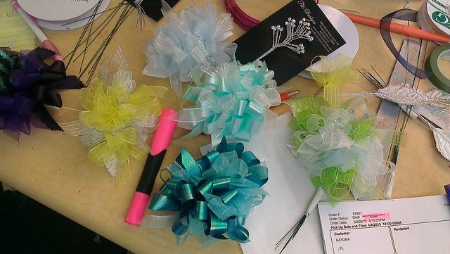prom corsage design