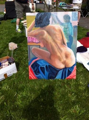 Nekkid lady painting