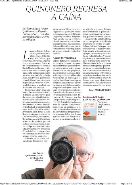 15b06 Kiosko y Más - QUIÑONERO REGRESA A CAÍNA - 7 feb. 2015 - Page #11-1 Uti 465