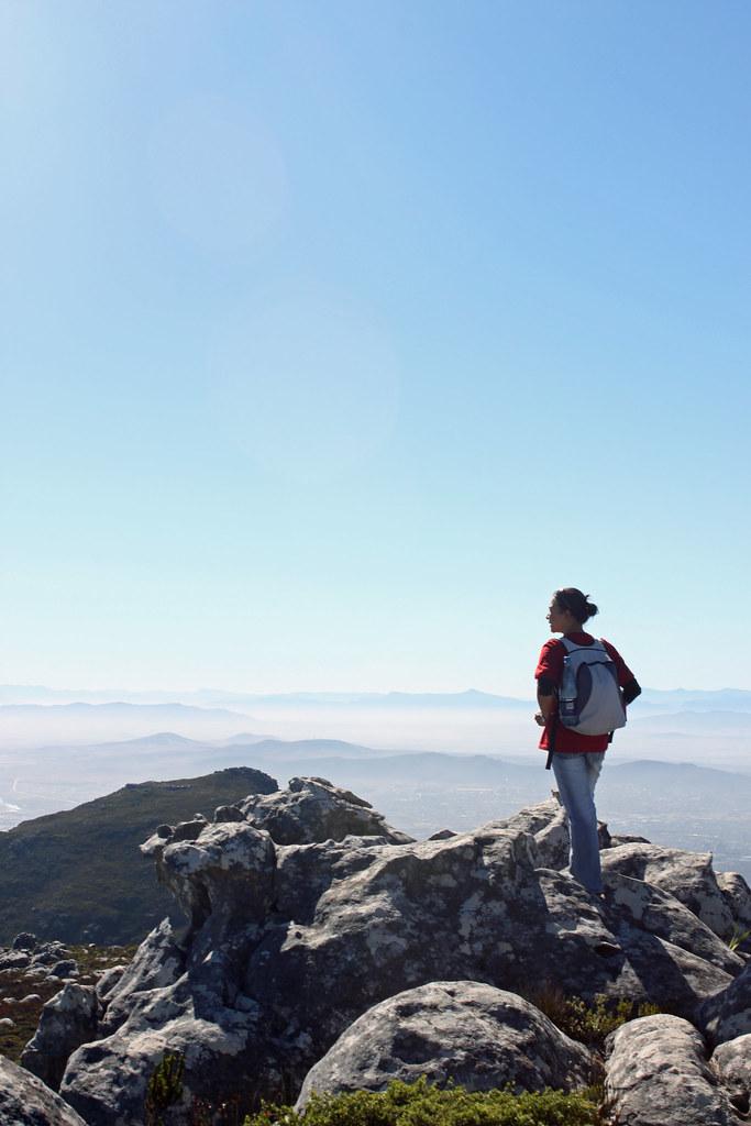 Trekking op af Table Mountain