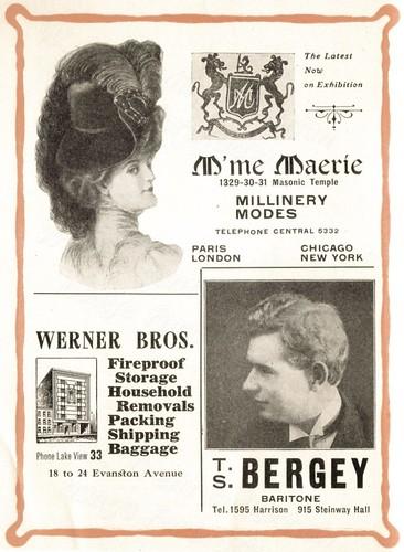 1907 USA advertisements: