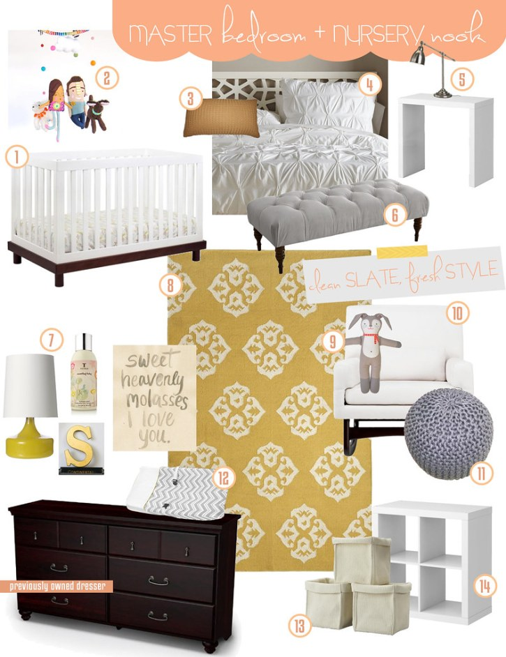 Master bedroom nursery nook inspiration board fresh for Master bedroom with attached nursery