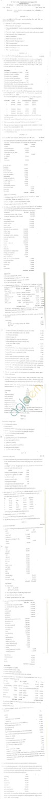 Bangalore University Question Paper July/August 2011 III Year B.Com. Examination - E-1 (Paper-1)
