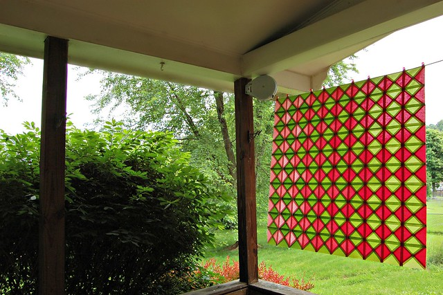 Ansley's Diamonds Back Side of Quilt Top