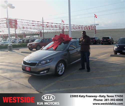 Thank you to Joe Hill III on the 2013 Kia Optima from Damon Clayton and everyone at Westside Kia! by Westside KIA
