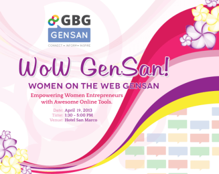 gbg gensan, wow gensan, women on the web
