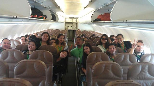inside Zest Air flight Z2501