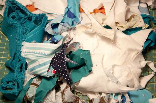 restos de tecidos