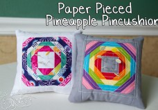 Paper Pieced Pineapple Pincushion Tutorial