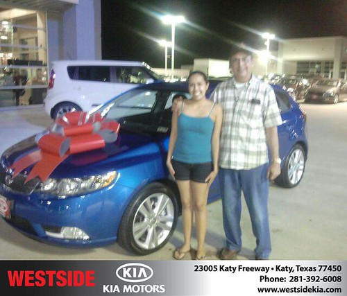 Thank you to Reneã© Dix on your new 2013 Kia Forte 5-Door from Gil Guzman and everyone at Westside Kia! by Westside KIA