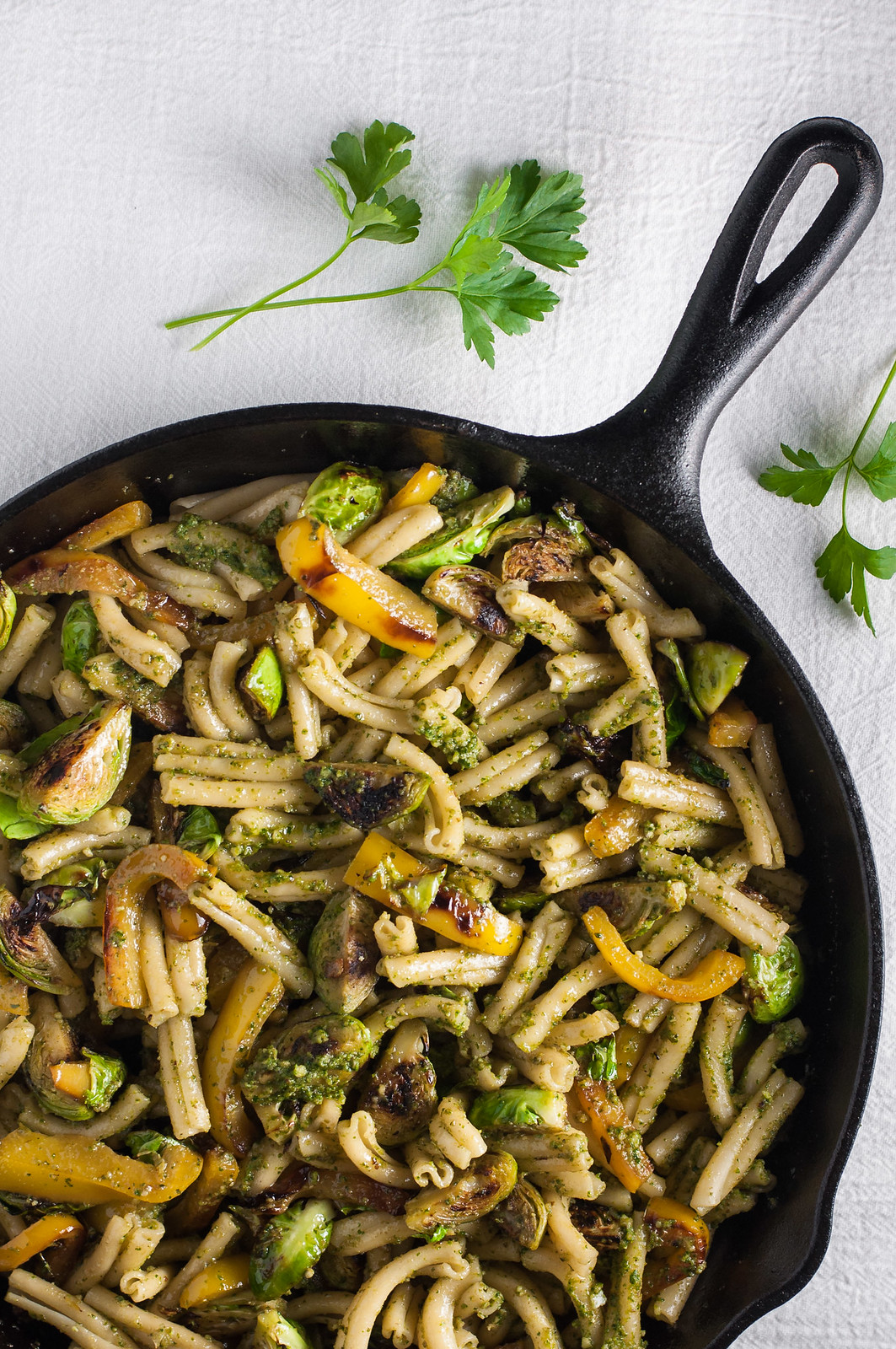 Winter walnut pesto pasta...comes together in 20 minutes for Valentine's dinner at home!