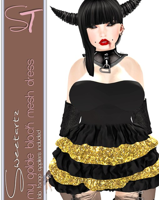 SweeTartz [<3] My Goldie Black dress