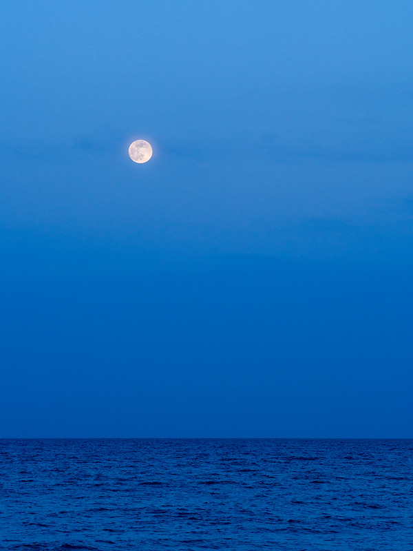 Super moon over Melbourne Beach