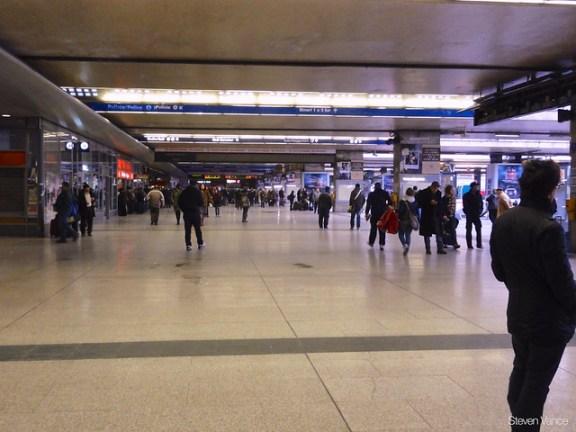 Platform corridor at Roma Termini